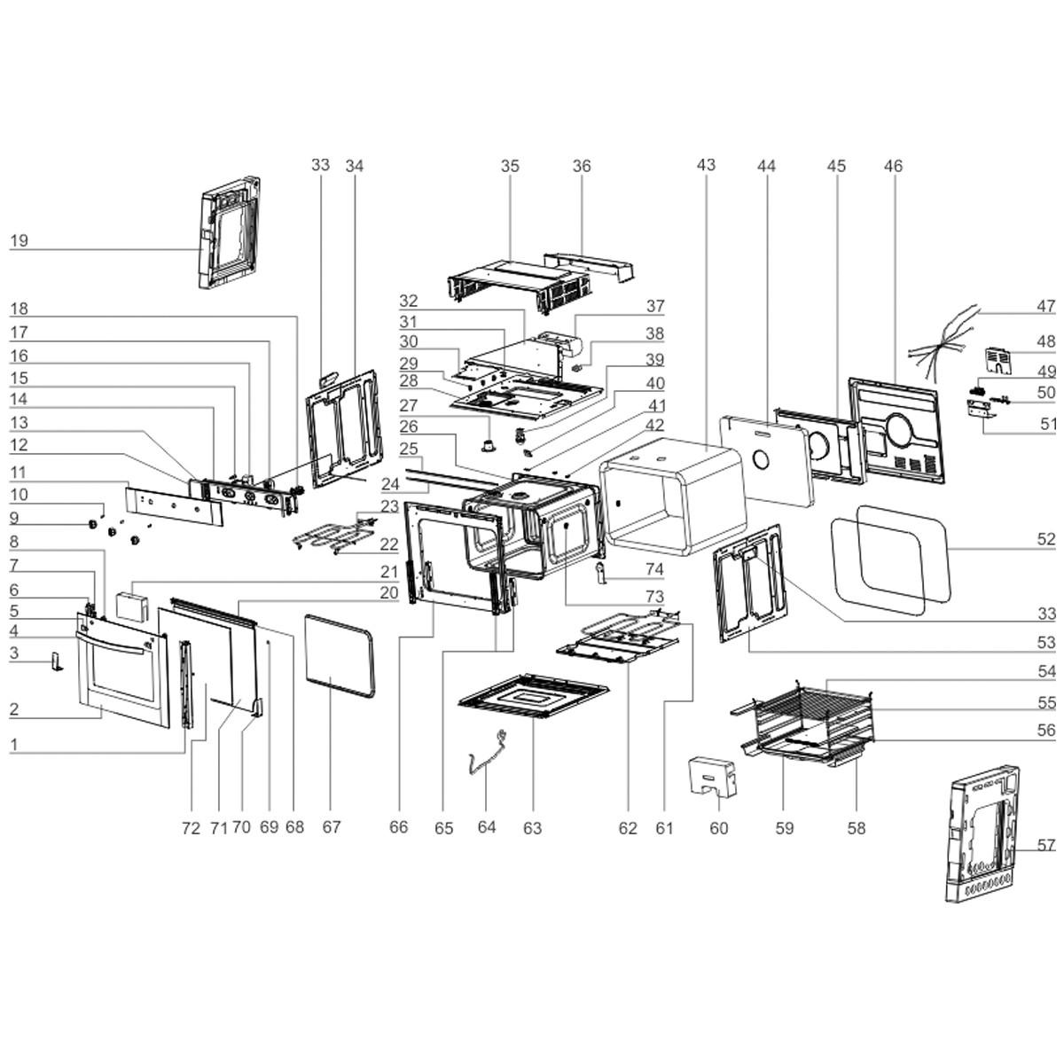 Vidro Intermediário Da Porta Do Forno Elétrico Electrolux - 262155100002