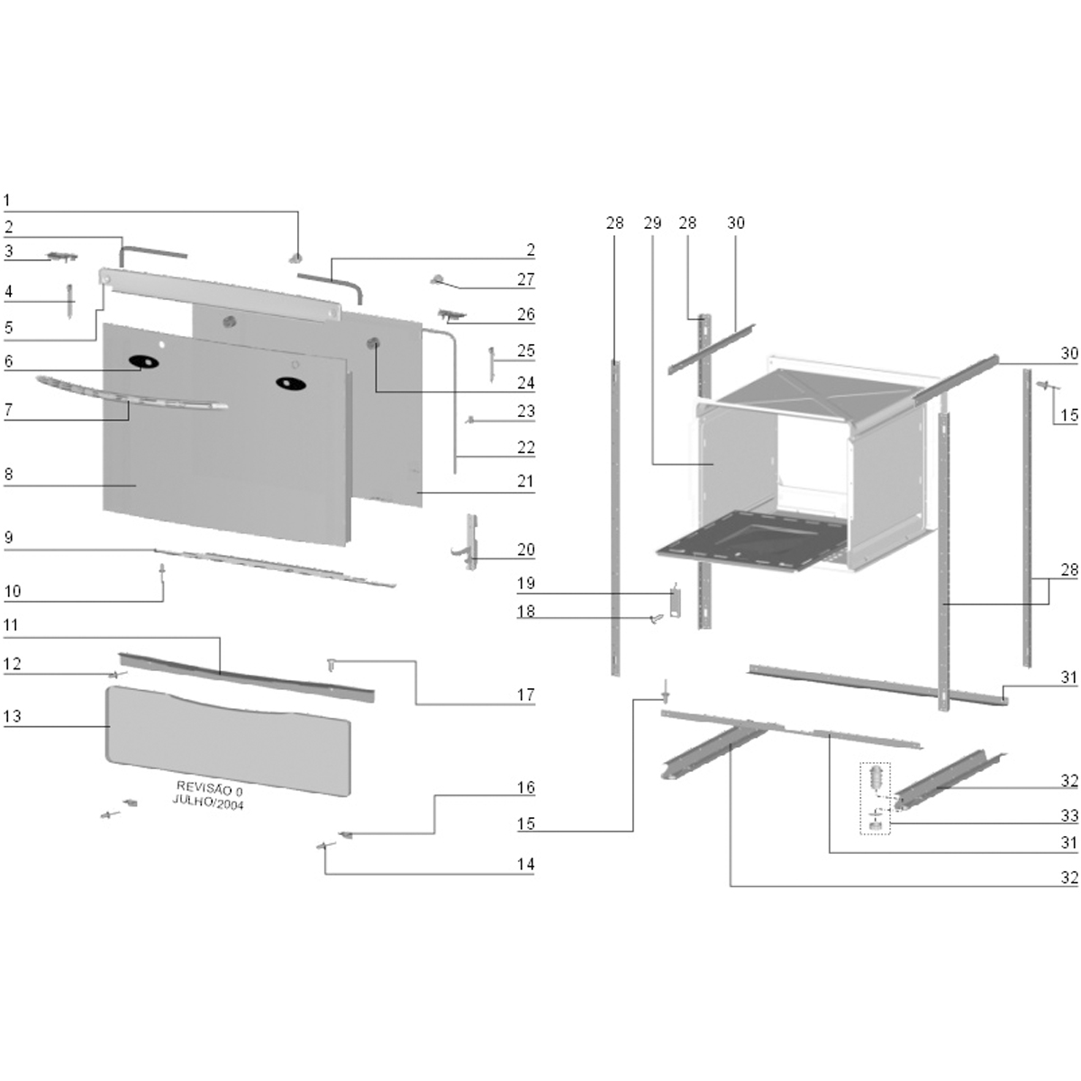 Vidro Interno Para Fogão Electrolux 56SE 56S4 56ST 56SL - 60016928