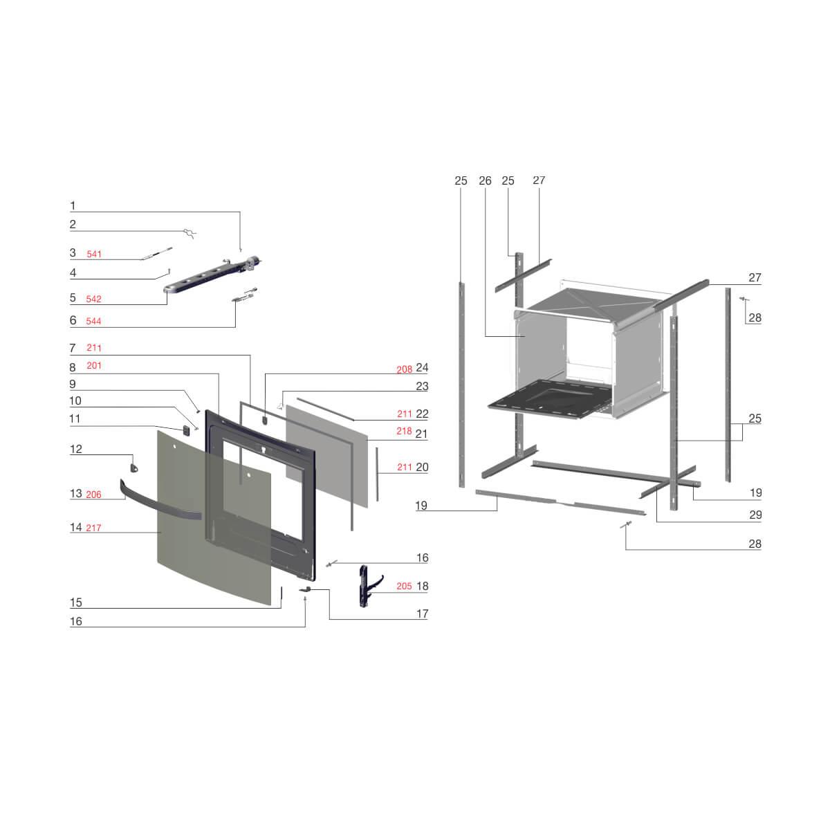 Vidro Interno Porta Do Forno 56 Para Fogão 4 Bocas Electrolux - A11675707