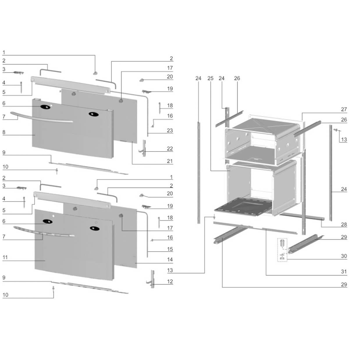 Vidro Interno Porta Forno Do Fogão 4 Bocas Electrolux -  70292377
