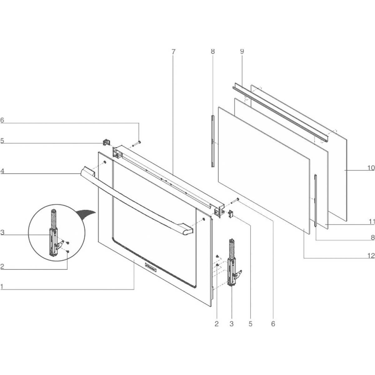 Vidro Térmico Intermediário Para Forno Elétrico Electrolux WOI76 -   139010500