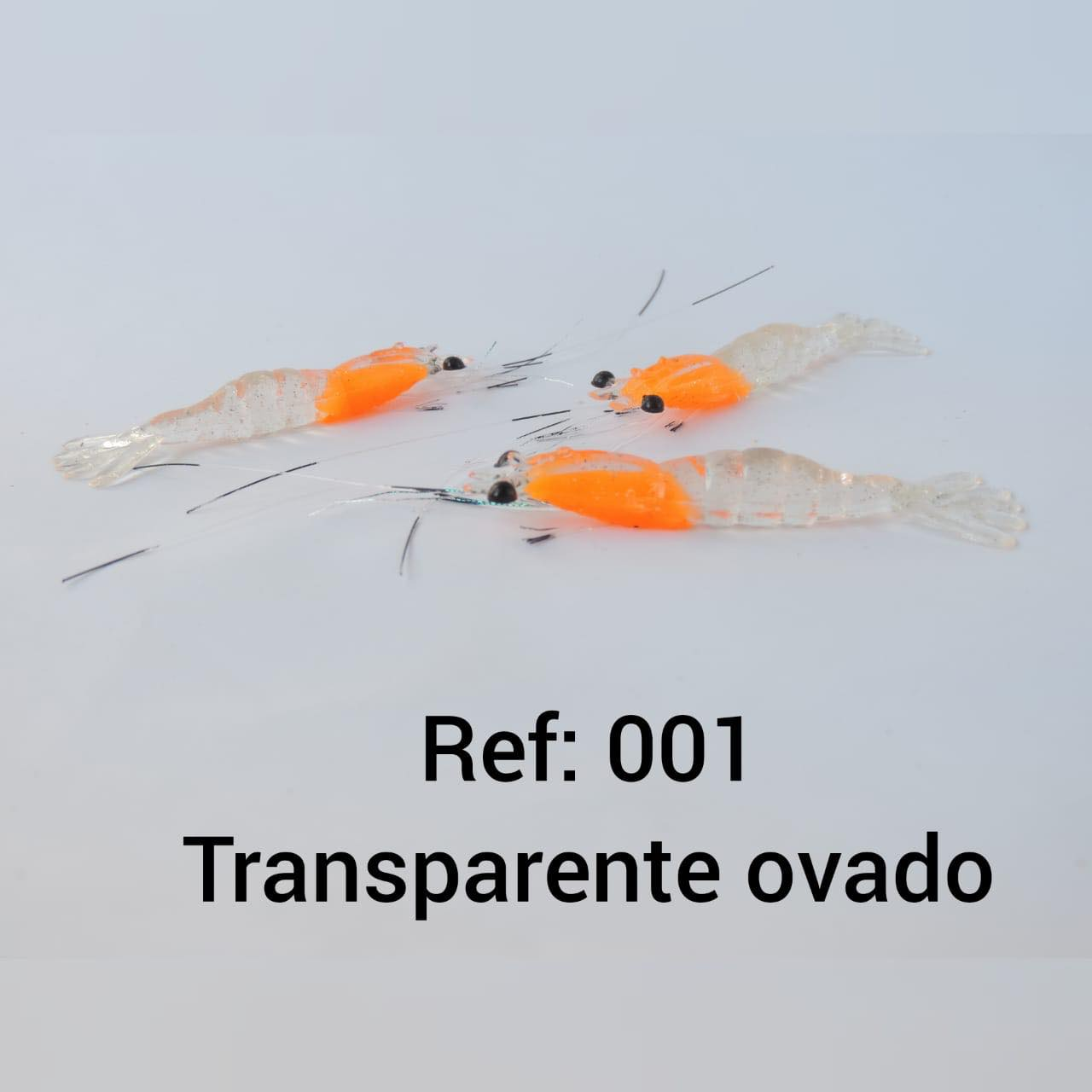 CAMARÃO ARTIFICIAL FJD REALISTA COM BIGODE - TAMANHO 5,5 CM.
