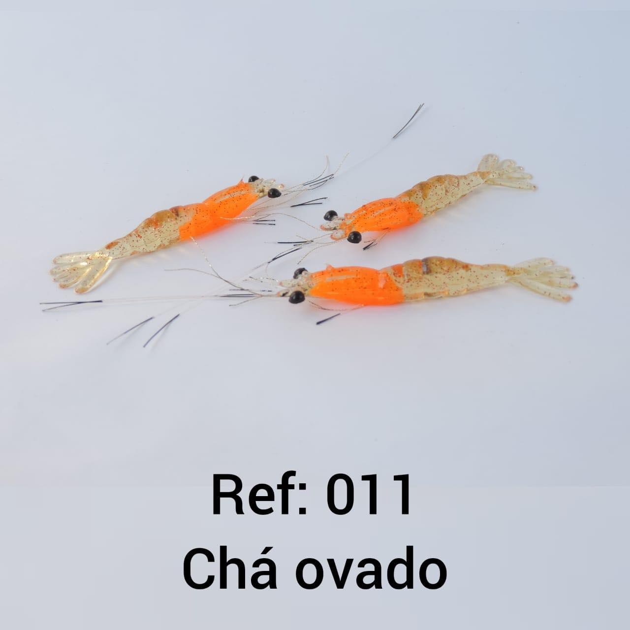 CAMARÃO ARTIFICIAL FJD REALISTA COM BIGODE - TAMANHO 7,5 CM.