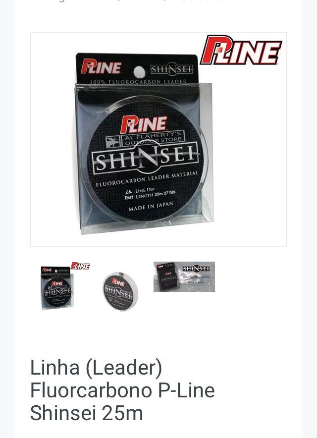 LINHA FLUOCARBON LEADER P-LINE SHINSHEI 25m. - 15 lbs. (0,34mm)