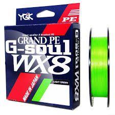 LINHA MULTIFILAMENTO YGK G-SOUL GRAND PE WX8 150m. - 45 LIBRAS (0,29mm)