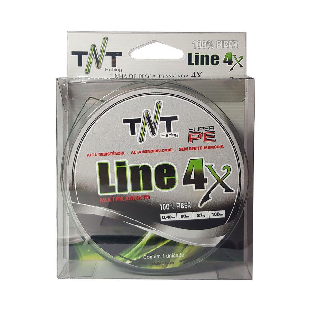 LINHA TNT MULTIFILAMENTO 4X 100 MTS 0,14MM - 15 LB