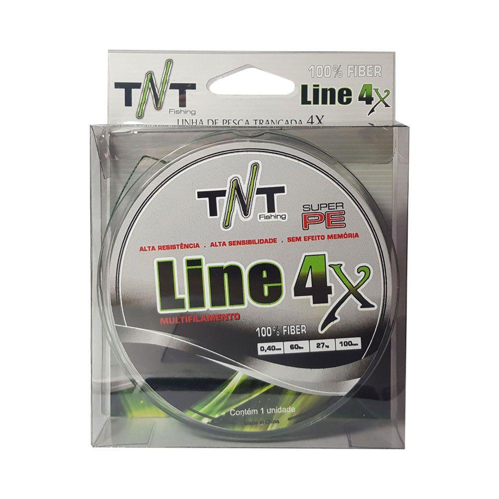 LINHA TNT MULTIFILAMENTO 4X 100MTS 0,40MM - 60 LB