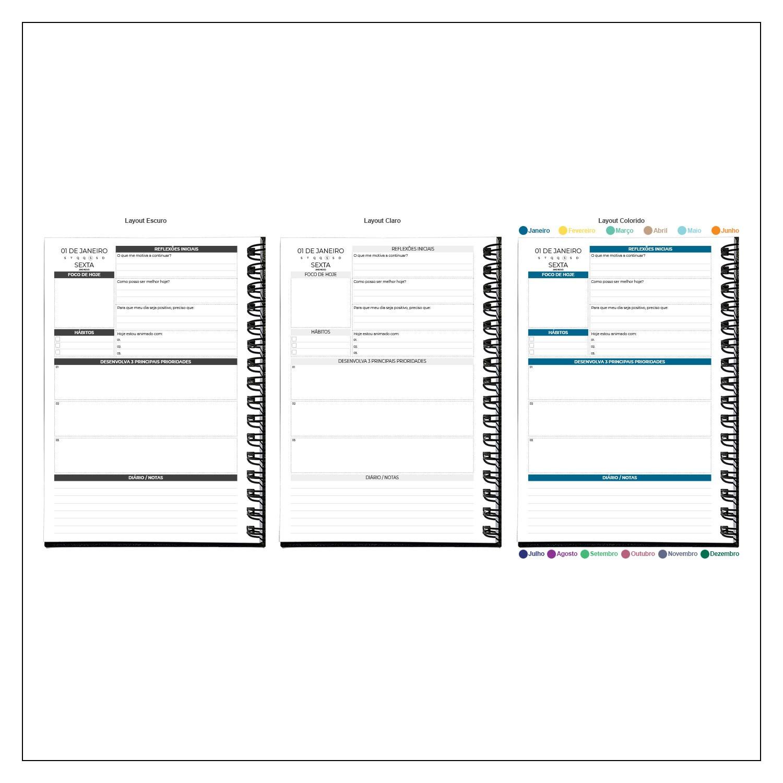 Planner Diário 2021 MyPlan - Organização