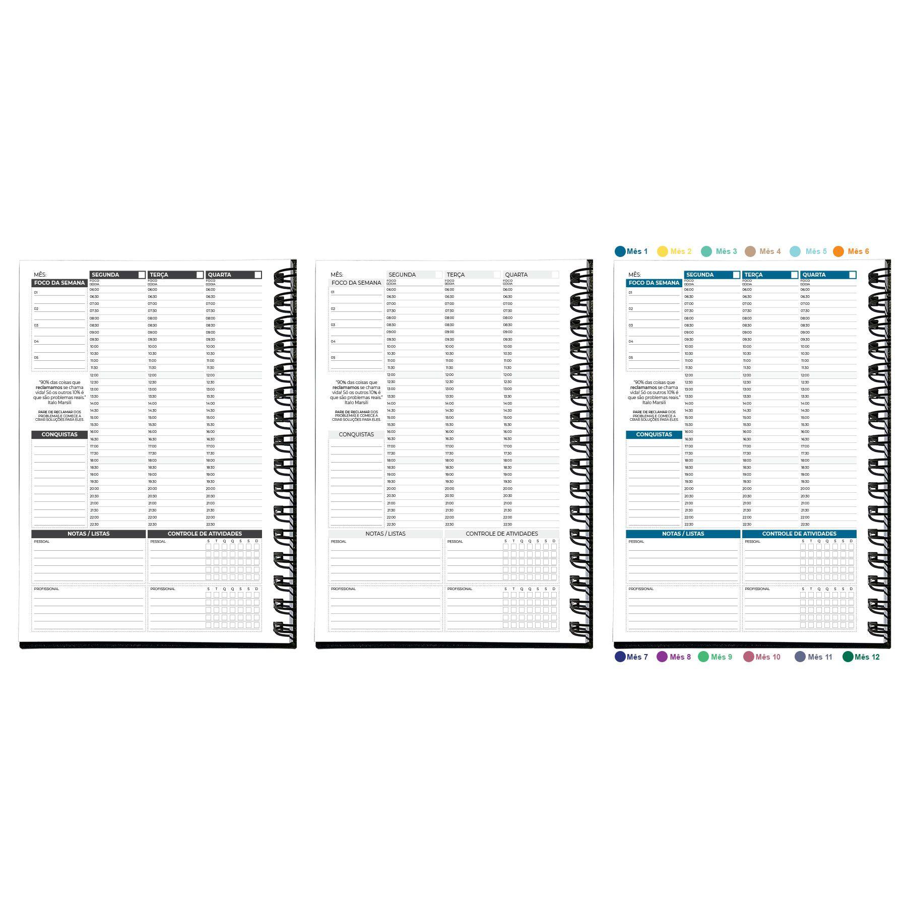 Planner Semanal Não Datado Permanente MyPlan - Executivo