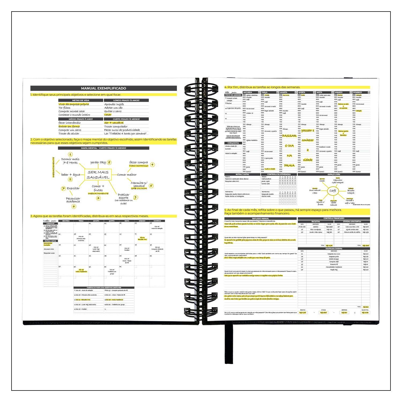 Planner Semanal Não Datado Permanente MyPlan - Executivo Preto (Pronta Entrega)