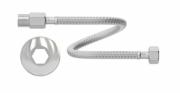 """Engate Flexível de Aço Inoxidável - Macho X Fêmea 1/2"""" X 40cm"""