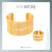 KIT312 - KIT PROMOCIONAL EM PALHA DE BURITI