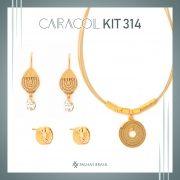 KIT314 CARACOL - KIT PROMOCIONAL EM PALHA DE BURITI