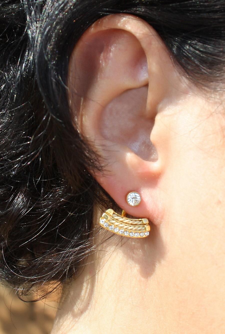 OL340  - BRINCO EAR CUF EM PALHA DE BURITI