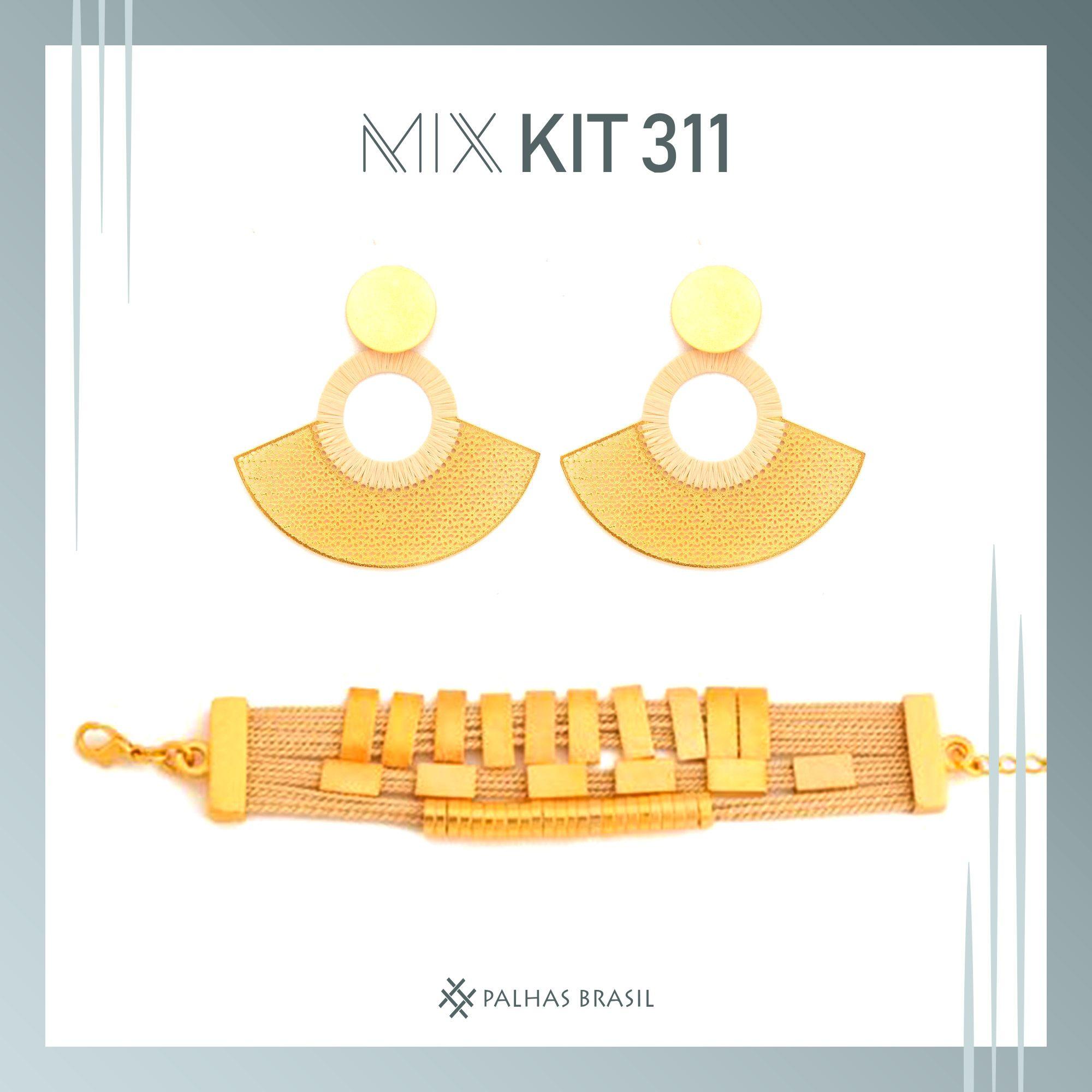 KIT311 - KIT PROMOCIONAL EM PALHA DE BURITI