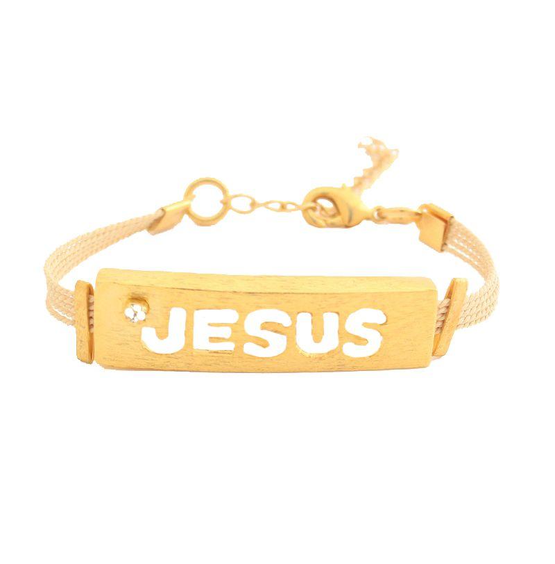 PF297  - PULSEIRA FINA JESUS EM PALHA DE BURITI