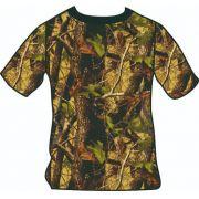 Camiseta manga curta camuflado vegetação