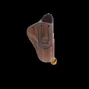 Coldre Velado Clip em Aço Marrom Audaz para Revólver Taurus RT627