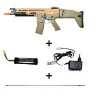 Rifle Airsoft FN SCAR-L Cybergun FN Herstal Tan - FRETE GRÁTIS