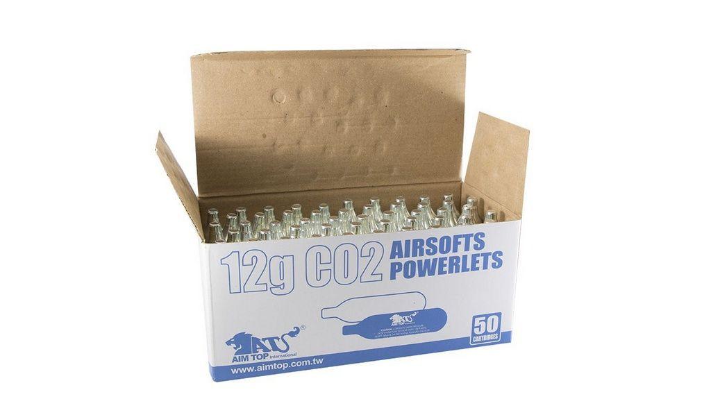 20 (Vinte) Cilindros de CO2 - 12G - Aim Top