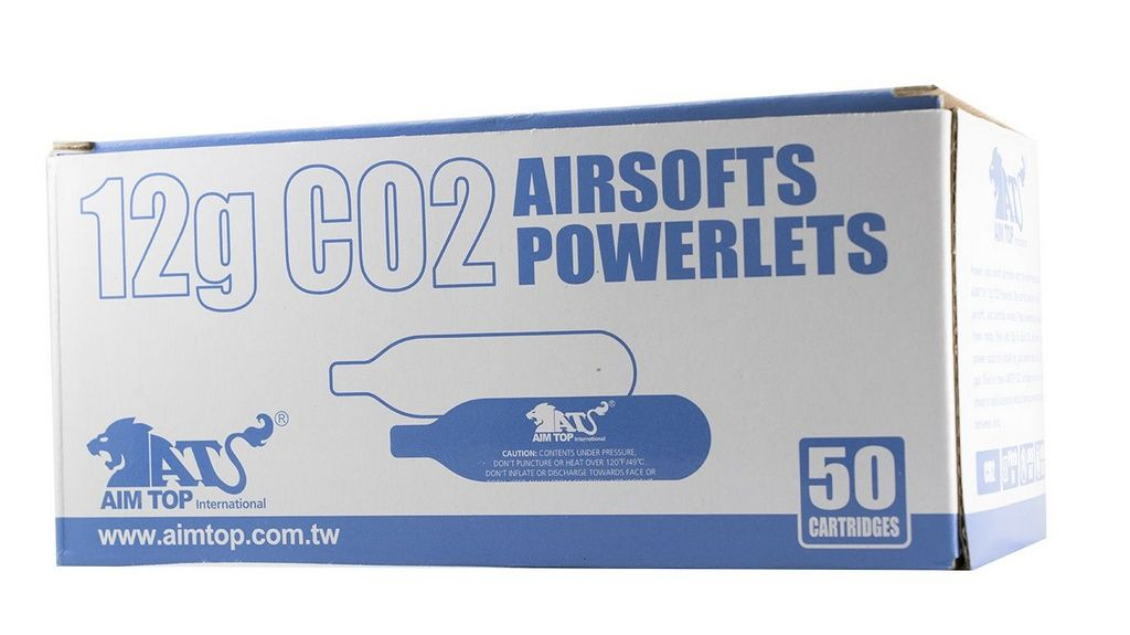 25 (Vinte Cinco) Cilindros Descartável de CO2 - 12G - Aim Top