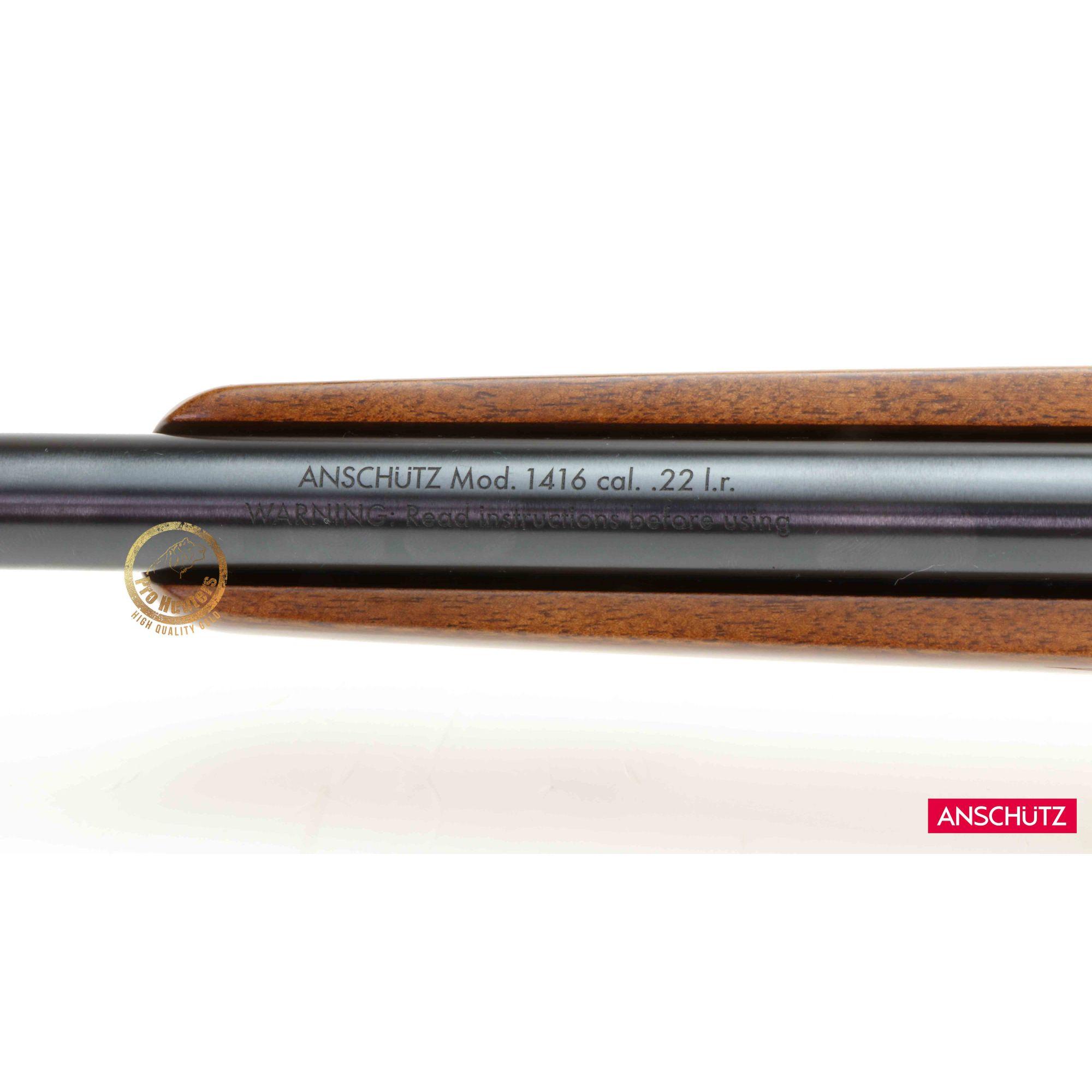 PRÉ VENDA - LANÇAMENTO - Anschutz - 1416 D HB G Classic - 18pol Barrel - Calibre .22 LR com Luneta HAWKE VANTAGE 4×32 30/30 DUPLEX