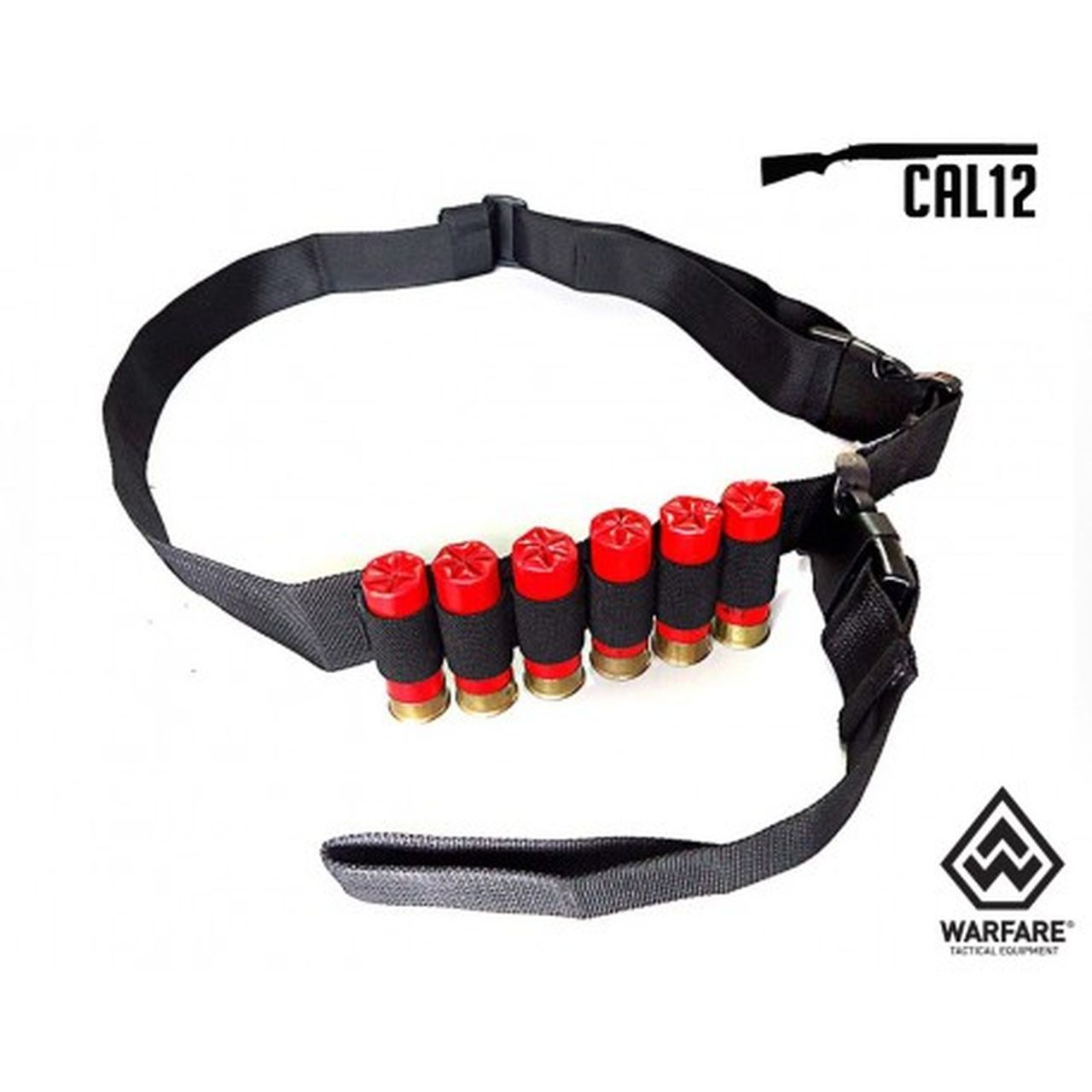 Bandoleira Warfare Calibre 12 - Black U