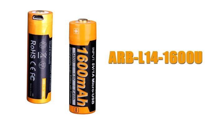 Bateria Fenix 14500- 1600U mAh
