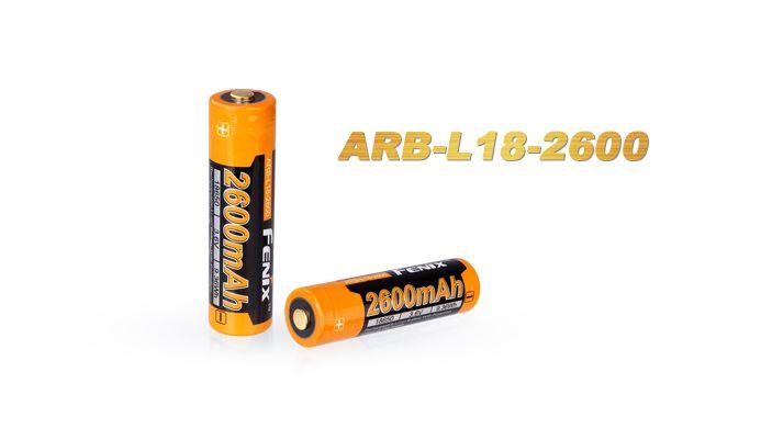 Bateria Fenix 18650 - 2600 mAh