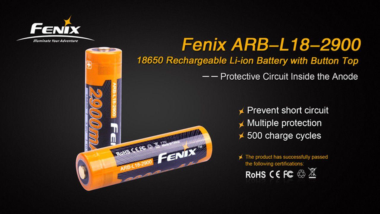 Bateria Fenix 18650 - 2900 mAh