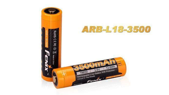 Bateria Fenix 18650 - ARB-L18- 3500 mAh