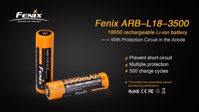 Bateria Fenix 18650 - 3500 mAh