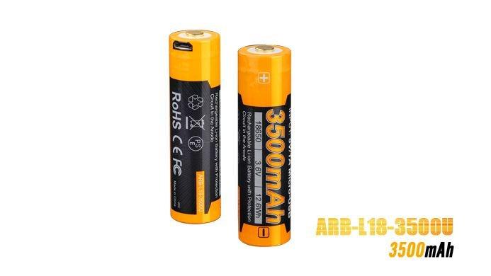 Bateria Fenix 18650 - 3500U USB