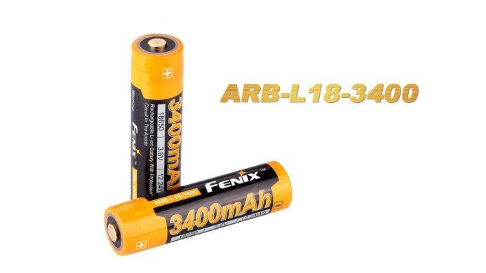 Bateria Fenix 18650 - ARB-L18- 3400 mAh