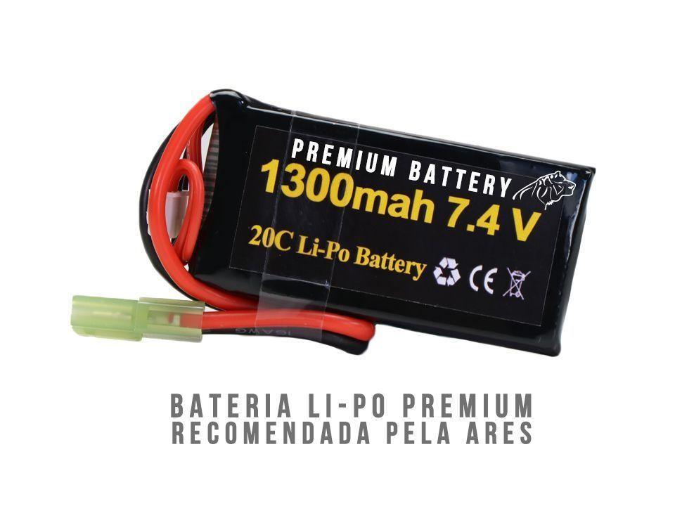 Bateria Para Airsoft- 20C - 2 Células - 1300 mAh - 7.4V