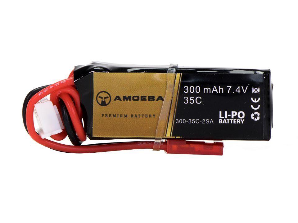 Bateria Para Airsoft Amoeba - 20C - 1 Pack - 300 mAh - 7.4V