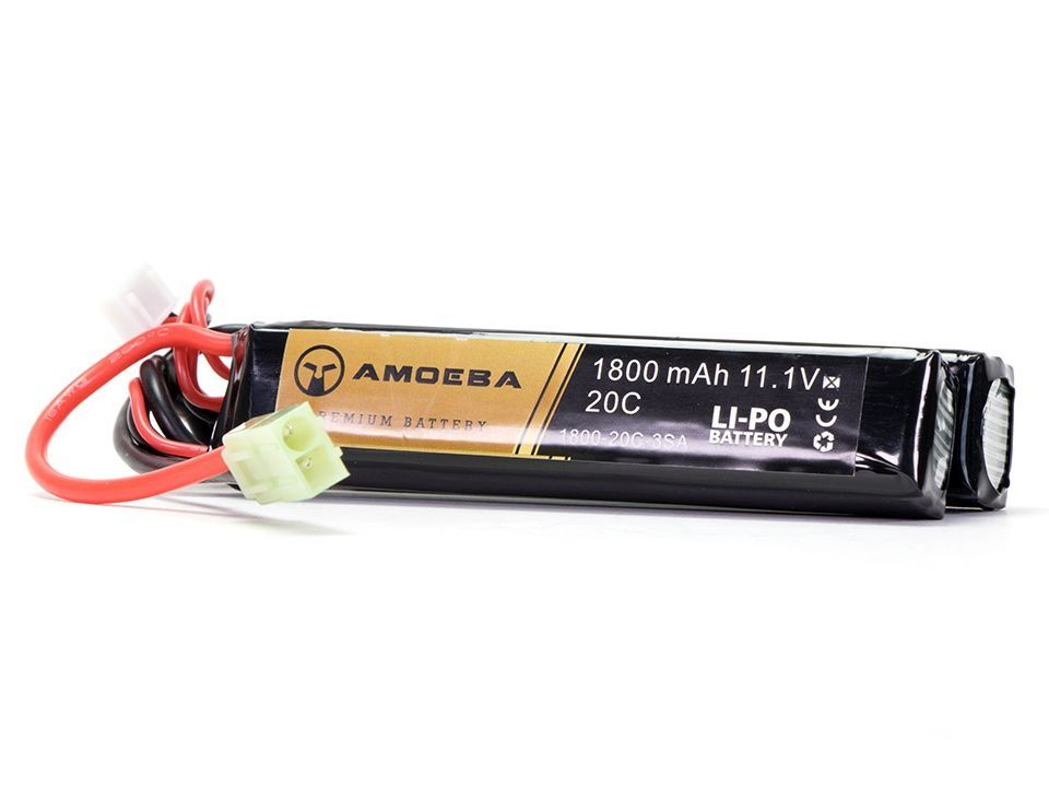 Bateria para Airsoft Amoeba - 20C - 2 Packs - 1800 mAh - 11.1V