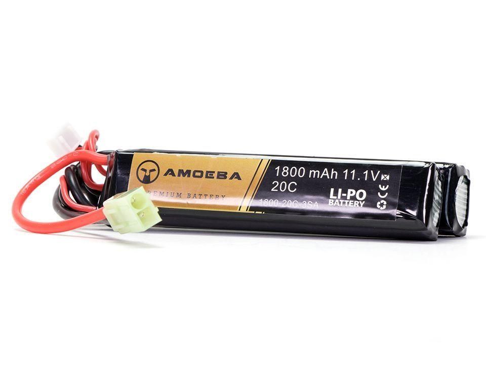 Bateria para Airsoft Amoeba - 30C - 2 Packs - 1800 mAh - 11.1V