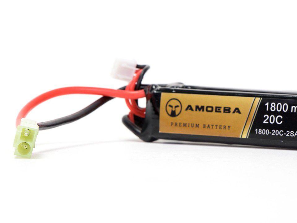 Bateria Para Airsoft Amoeba - 20C - 2 Packs - 1800 mAh - 7.4V