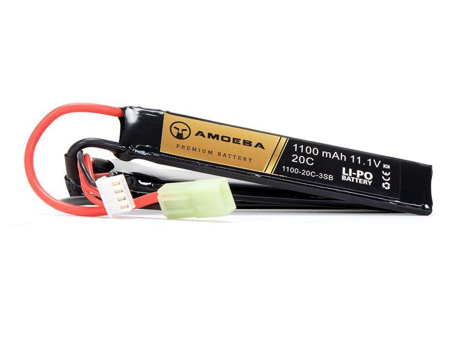 Bateria Para Airsoft Amoeba - 20C - 3 Packs - 1100 mAh - 11.1V