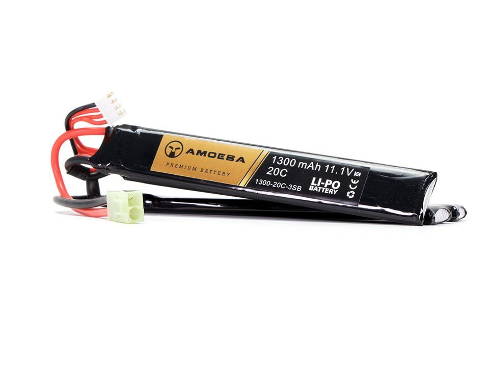 Bateria Para Airsoft Amoeba - 20C - 3 Packs - 1300 mAh - 11.1V