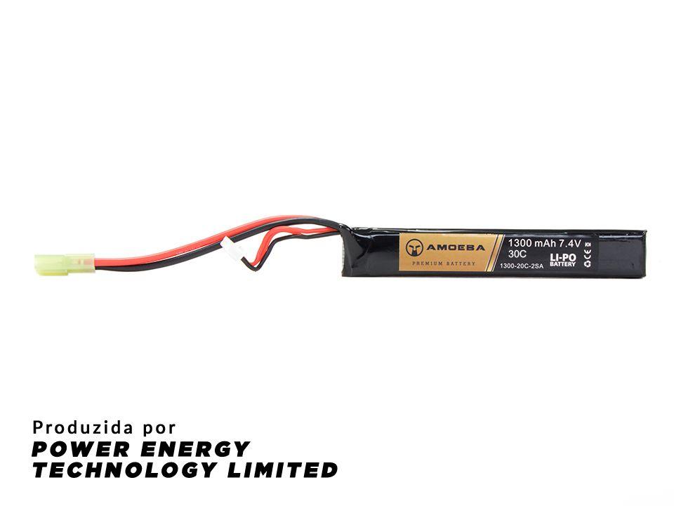 Bateria Para Airsoft  Amoeba - 30C - 1 Pack P/ Tubo da coronha - 1300mAh - 7.4V
