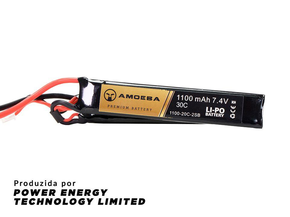 Bateria Para Airsoft Amoeba - 30C - 2 Packs - 1100 mAh - 7,4V