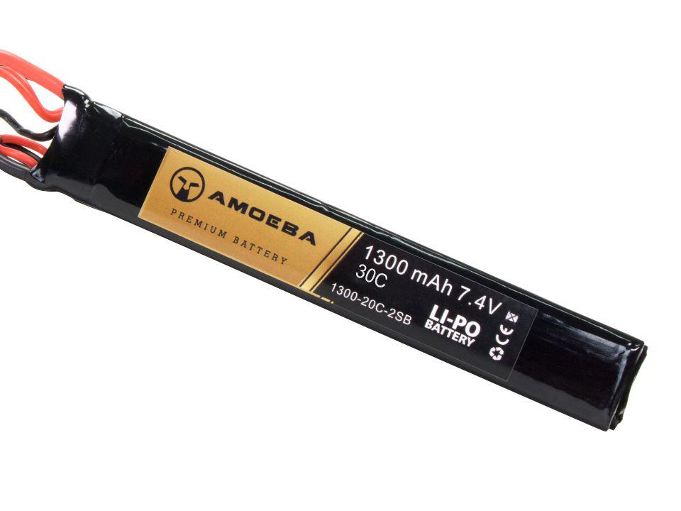 Bateria Para Airsoft Amoeba - 30C - 2 Packs - 1300mAh - 7.4V