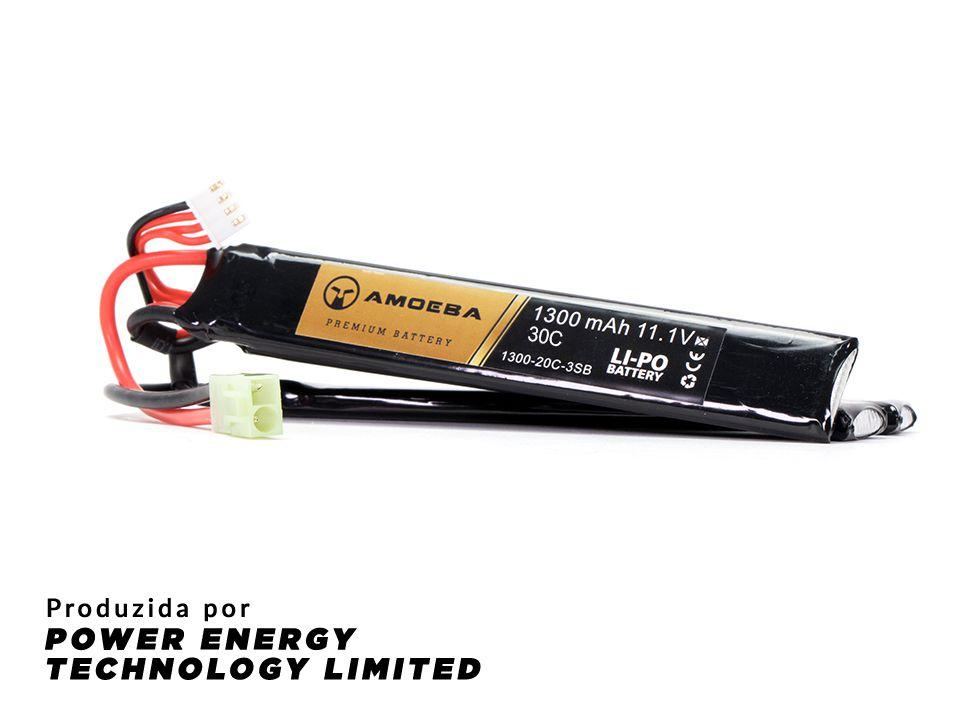 Bateria Para Airsoft Amoeba - 30C - 3 Packs - 1300 mAh - 11.1V