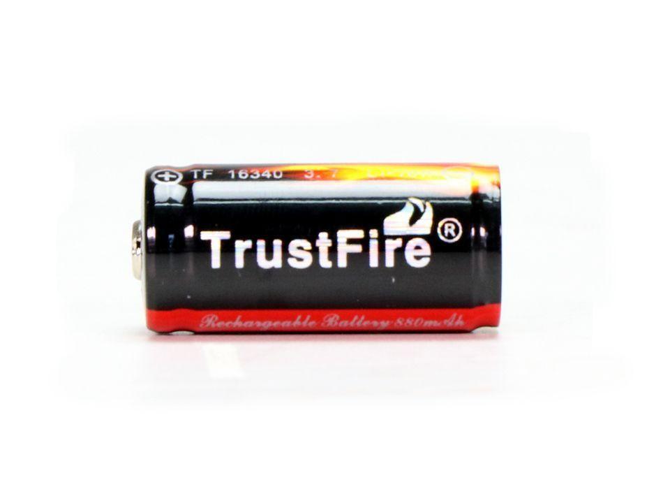 Bateria Trustfire 16340/CR123A - 880 mAh