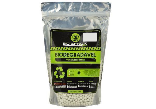 BBs 0.20g - Bioattack Airsoft Biodegradável - 4000 Unidades