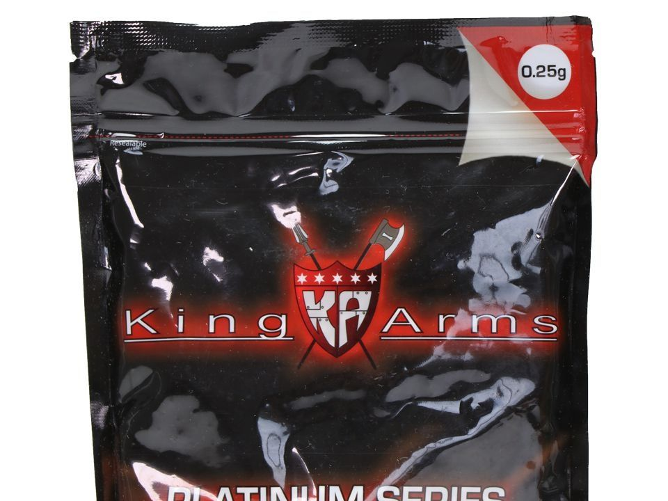 BBS 0.25g - King Arms Platinum Series Brancas - 4000 Unidades