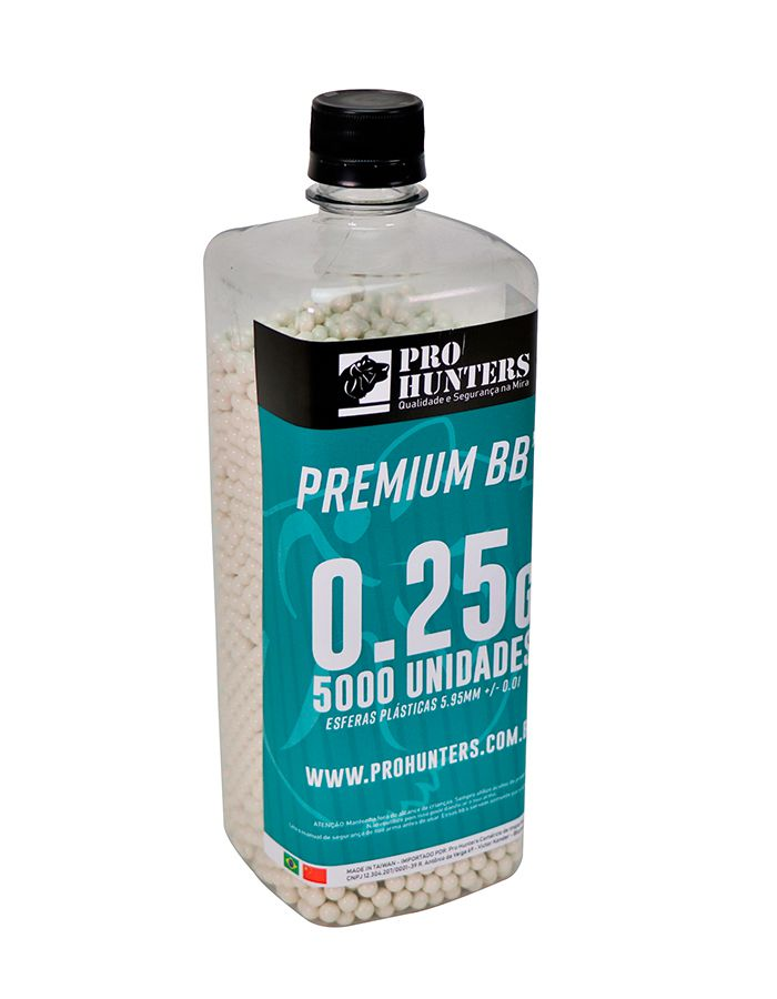 BBs 0.25g Pro Hunters - 5000 unidades