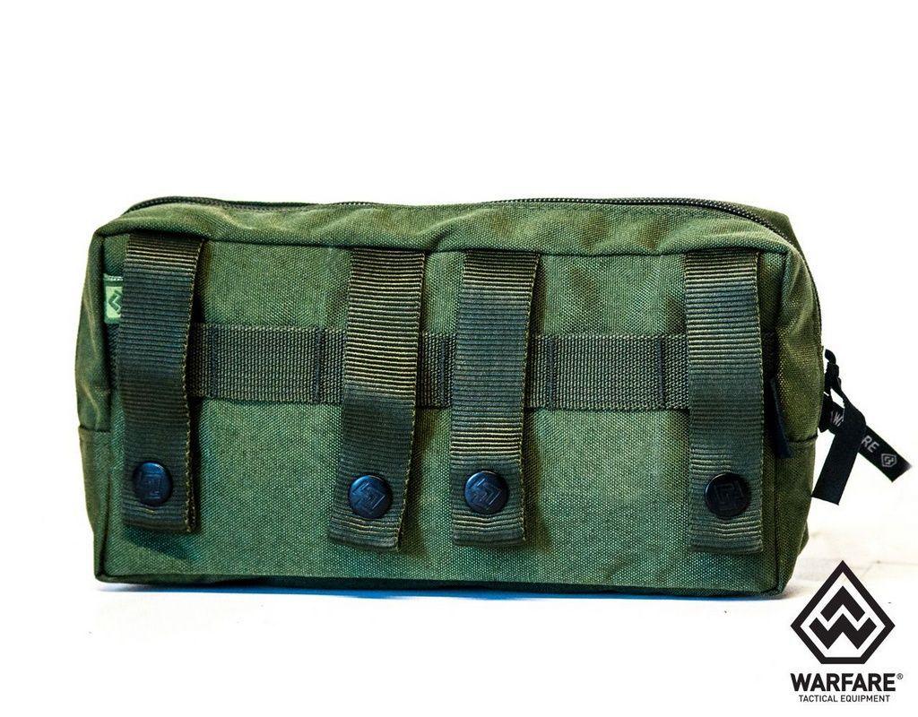 Bolso Horizontal Warfare- Com 2 Zíper - Verde